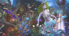 { Ocean's Daughter } (clau.dagger) Tags: belleepoque thearcade mermaid gacha secondlife fantasy thelookingglass thesecretaffair coral reef sea landscape decor minahair insol catwa maitreya poseidonposes