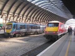 Transpennine Express 185 140 & Virgin Trains East Coast 91 105. York (captaindeltic55) Tags: