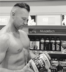 shopping (ddman_70) Tags: shirtless pecs abs muscle shopping store protein