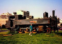 Krauss Z7538 Steam Locomotive (Stuart Axe) Tags: krauss z7538 steam locomotive heraklion crete mediterranean island railway railways abandoned scrap scrapped derelict rusting rust rusted mediterraneansea greece greek 1988