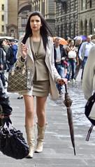 Ready for Rain (tonyhudson12526) Tags: brunette manicure smoking candid street