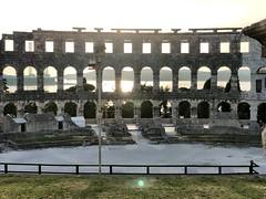 Bouncing light (aiva.) Tags: croatia istria pula hrvatska istra balkan coliseum arena amphitheater jadran adriatic sunset ruins antic architecture