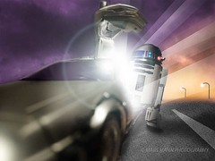 R2-D2 and the Delorean Time Machine (Mars Mann) Tags: starwars backtothefuture droid timemachine poster sciencefiction vehicle readyplayerone photoshop movies adventure kids familyadventure beamsoflight bright glow dusk flickrmarsmann robot sunset streetlights artoo headlights sky clouds road cool toy toyphotography dramatic driving urbannight openroad martymcfly car burstoflight hansolo olympuscamera micro43 marsmannonflickr