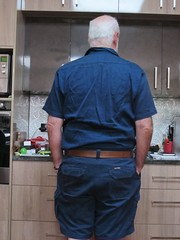 Todays Outerwear (p1161040) (ChrisBearADL) Tags: me photo blue pouch dad briefs bonds singlet
