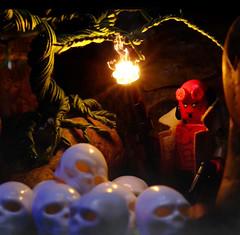 HELLBOY : The Cave of Skulls 🎥 (j_moonray) Tags: skull legohellboy hellboy minifigure minifig lego