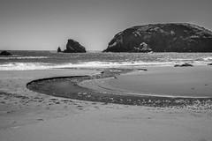 Streaming to the Sea (marvhimmel) Tags: creek oregoncoast general beach surf stream rock waves pink