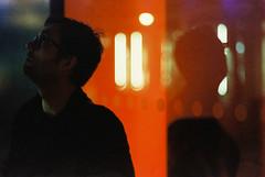 Ponder. (Paul_Munford) Tags: minoltax700 mcrokkor58mm14 film grain filmisnotdead analogue cinestill800t london londonstreets streetphotography