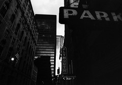 Park (johnlishamer.com) Tags: 2017 35mm bw fujineopan400expired lishamer nikkor24mmf28 nikonf3 slr theloop chicagoil city downtown film johnlishamercom pushedto1600 skyscrapers urban