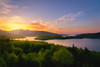 Sunset over Lake Plastiras (IzTheViz) Tags: sunset forest lake plastiras greece spring thessaly variotessartfe41635 wood grece lac