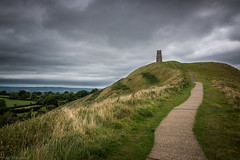 Ascension (Anthony P.26) Tags: category england glastonbury glastonburytor landscape places somerset travel ruin stone stonebuilding tower church hill grass path pathway steps green rural nature countryside avalon canon1585mm canon70d canon outdoor scenic scenery trees sky clouds greyclouds greyskies cloudy cloudysky fields