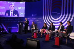 OECD Forum 2018 -  Session: Blockchain & Enabling Technologies (Organisation for Economic Co-operation and Develop) Tags: oecdforum2018 blockchain enabling technologies moderator axel threlfall editor large reuters renata avila senior digital rights advisor world wide web foundation nicolas cary cofounder united kingdom pierre digonnet reconnect programme wolfgang jamann executive director international civil society centre greg medcraft financial enterprise affairs paris france