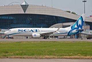 UP-B7320, Boeing 737 MAX 8 SCAT Air @ Almaty ALA UAAA