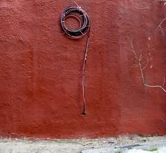 Pensée circulaire (Robert Saucier) Tags: rose pink fil wire mur wall cercle circle img9970