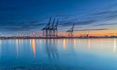 Dawn Docks (nicklucas2) Tags: crane port docks reflection river test marchwood magazinelane