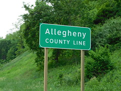 Allegheny County Line (jimmywayne) Tags: pittsburgh pennsylvania pit airport countysign countyline i376 interstate alleghenycounty