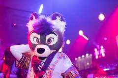 8M5A5574-31 (loboloc0) Tags: furries frolicparty frolic party furry club dance suit suiter fur fursuit dj sf san francisco indoor people costume performer animal blur