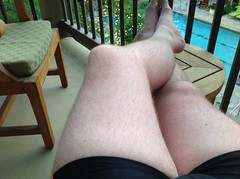 Post-swim legs (paul.knightley) Tags: guy man tight bulge swim speedo speedos hairy legs