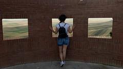 Frames (toruccius) Tags: italy italia puglia poggiorsini viewpoint girl landscape windows frames squares