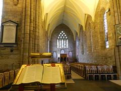 Dornoch Cathedral Interior, Dornoch, Sutherland, March 2018 (allanmaciver) Tags: dornoch cathedral open bible lectern light history church ceiling peace quiet learn allanmaciver sutherland coast scotland