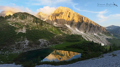 Piccoli laghi Orobici (Simona Baglio Outdoor Photograpy) Tags: mountain clouds lake landscape orobie prealpi italy lombardia bergamo rocks mirror reflections light sunset olympus em5markii peaks evening springtime june outdoor hiking sun solitary tranquility panorama alps
