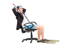 Businessman with a snorkel relaxing in an office chair (aliceheiman) Tags: 20s adult background break business businessman calm caucasian chair cheerful concept diving equipment expression funny goggles guy happy holiday isolated lifestyle looking male man mask officechair one peaceful person pose posing relaxation relaxing resting seat seated serene single sit sitting smile smiling snorkel snorkeling studio suit tranquil vacation white young