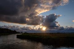 Evening atmosphere  :) (www.mroosfotografie.nl) Tags: sun scenery clouds mroosfotografie rottemeren wwwmroosfotografienl fujifilm 16 14 star water grass