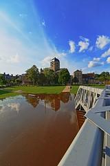 Crue providentielle III (Tonton Gilles) Tags: alençon normandie reflets hdr crue parc de la providence paysage urbain eau rivière sarthe inondation