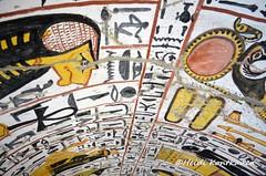 Part of tomb ceiling (konde) Tags: tt219 luxor deirelmedina 19thdynasty newkingdom hieroglyphs deities ankh thebes tomb ancientegypt nebenmaat