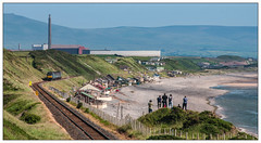 The Grassy Knoll Cat Scan Gallery (Jim the Joker) Tags: 2c33 68003 astute 68017 hornet drs directrailservices nethertown ccl cumbriancoastline sellafield sea railway train