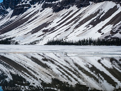 _5238013 (Hyperfocalist) Tags: canada alberta spring rocky mountains bow lake reflections still water clear mountain trees ice snow