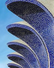 Run for cover (Adaptabilly) Tags: shadow blue spain valència mosaic sky architecture ciudaddelasartesylasciencias building cityofartandscience santiagocalatrava lumixgx7 travel europe