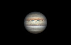 Jupiter 21. Maj 2018 (Waskogm) Tags: jupiter planet astrophotogrpahy amateur telescope teleskop space universe univerzum svemir cosmos kosmos nature dark night planeta gas giant maksutov skywatcher observatory astronomy astronomija aristarh aristarcjus waskogm wasko vasilije ristovic