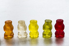 jelly bears on parade (nigel.summerton) Tags: sweets macromondays candy