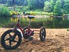 Eggleston on Tay (Herschell Hershey) Tags: perthshire scotland riverbank tricycle tay river wood birnam dunkeld birnamdunkeld