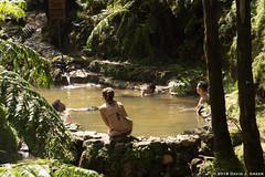Enjoying the Hot Springs (David J. Greer) Tags: sailtrainexplore rubicon3 san miguel azores portugal winter travel adventure people pool sitting centro de interpretação ambiental da caldeira velha poca dos fetos hot springs pools thermal
