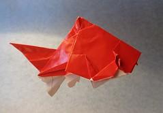 Pez Dorado (mrmicawer) Tags: papiroflexia origami papel pez dorado golden fish mar sea