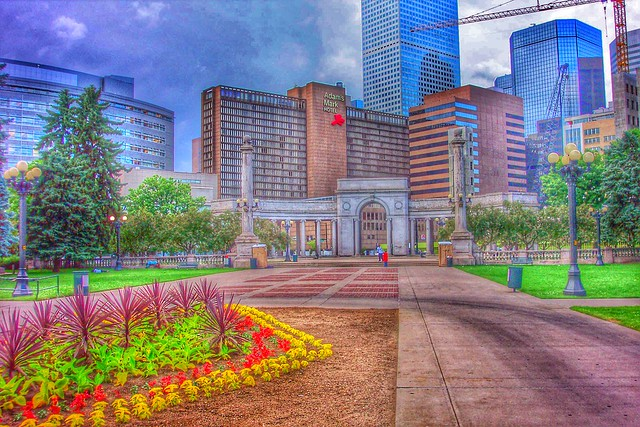 Denver Colorado ~  Civic Center Park View ~ View from Entrance to the State Capitol large image