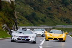 Get out the way (Gaetan | www.carbonphoto.fr) Tags: mercedes benz clk gtr ferrari enzo maserati mc12 supercars hypercars cars coche auto automotive fast speed exotic luxury great incredible worldcars carbonphoto andermatt soc supercarownerscircle