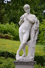 Unknown artist - Pan with Pipe, Kew Palace, Royal Botanic Gardens, Kew, Surrey, May 2014 - 3 (ketrin1407) Tags: pan statue sculpture marble pipe flute woodwind nude naked figleaf sensual erotic mythology unknownartist unknowndate kew kewgardens royalbotanicgardens surrey