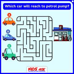 Which car will reach to petrol pump (KidsAge) Tags: car cars carpuzzle carpuzzles maze kidsage kidsagepuzzle puzzleoftheday puzzleoftheweek carandpetrolpuzzle