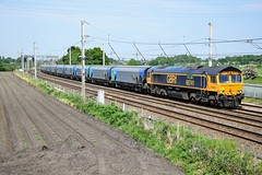 66741 'Swanage Railway' 6E10 Winwick (cmc_1987) Tags: 66741 gbrf gbrailfreight hectorrail britishrailclass66 class66 jt42cwr gm emd 6e10
