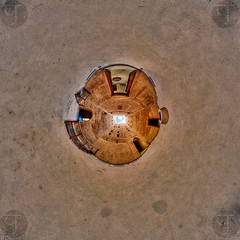 Tunnel Jabrin (TJ.Photography) Tags: oman oriental east eastern jabrin architecture historical history interior castle fort bahla panorama planet littleplanet
