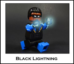 Black Lightning (-Metarix-) Tags: lego minifig dc comics comic black lightning super hero rebirth universe new custom decal
