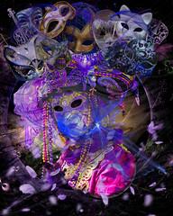 Carnevale di Venezia (margotd2) Tags: carnevale venezia purple mask masks beads hat disguise abstract face person