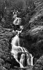 Wee Waterfall (amcgdesigns) Tags: andrewmcgavin eos7dmk2 fortwilliam lochaber waterfall waterfalls slowshutterspeed nikcollection silverefex landscape scotland