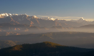 When the sun strikes Kumaon hills..