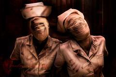 Silent Hill Nurses (Paulann_Egelhoff) Tags: silenthill nurses creepy horror halloween gore videogame gauze gritty dark fanart cosplay costume fashion phxcf phxcf2018 phxcc comicon phoenix az professional alternative photography art design paulann paulannegelhoff