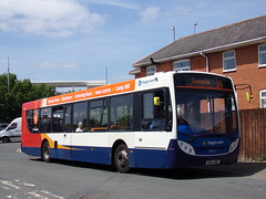 Stagecoach Midlands ADL Enviro 300 (Scania K320UB) 28625 KX12 AMK (Alex S. Transport Photography) Tags: stagecoach bus outdoor road vehicle stagecoachmidlandred stagecoachmidlands adlenviro300 enviro300 e300 off route unusual route2branding scania k320ub route16 28625 kx12amk