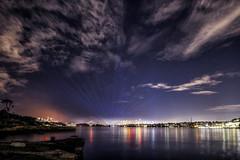 Sydney Twilight Sky (satochappy) Tags: sydney sydneyharbour beams vividsydney vividsydney2018 sydneyharbourbridge woolwich twilight