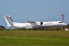 D-ABQI Eurowings Bombardier Dash 8 Q-400 EGJB 5/5/18 (David K- IOM Pics) Tags: d dabqi eurowings lgw ewg ew bombardier dash 8 q400 dh8d egjb gci guernsey airport